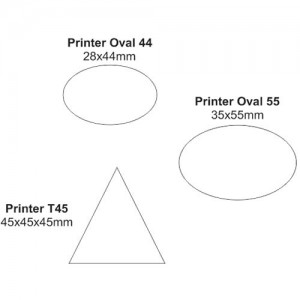 Carimbo Printer Oval e Triangular