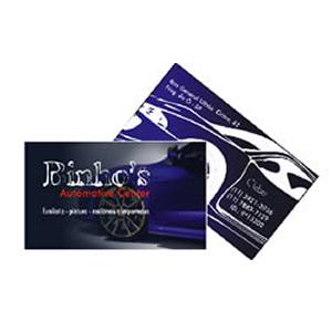 Cartão de visita com laminação fosca e verniz localizado