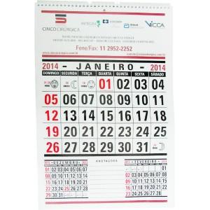 Folhinha de calendário